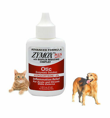 ZYMOX Otic Plus Ear Solution Contains Hydrocortisone1%,Patented Enzyme Formula!!