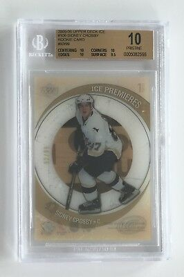 2005 05 Upper Deck UD Ice /99 Sidney Crosby #106 BGS 10 PRISTINE ROOKIE RC