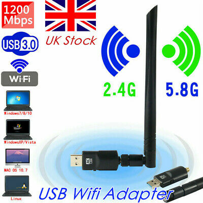 High Speed USB Wifi Adapter Wireless Antenna Dongle For Laptop Smart TV Box PC