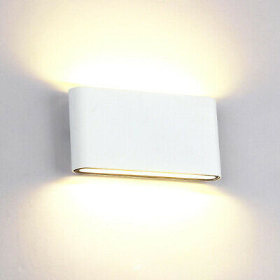 1/10x COB 6W 12W LED Wall Light Dual Head Sconce Lamp Outdoor Light Fixture IP65