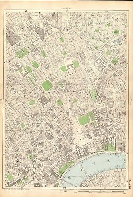 1906 Large Map-Bacon 9 Inch - King's Cross, Pentonville, Bloomsbury, Charing Cro