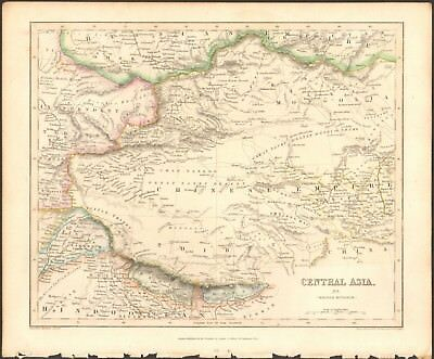 1840 ca ANTIQUE MAP - CENTRAL ASIA, MIDDLE DIVISION, CHINESE EMPIRE, TIBET, MONG