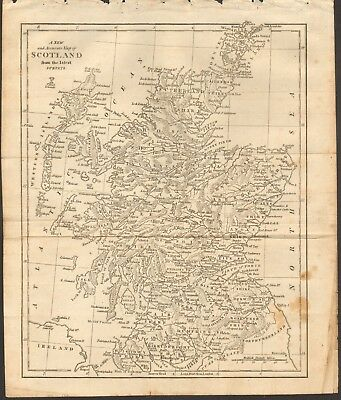 1807 Antique Map- A New And Accurate Map Of Scotland From The Latest Surveys