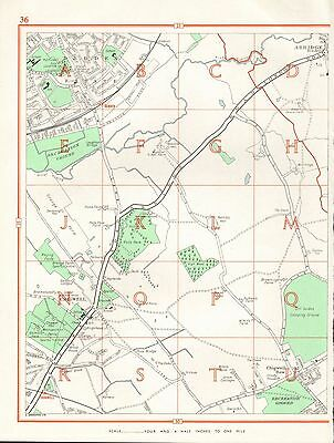 1964  Vintage London Street Map - Debden Estate,Chigwell