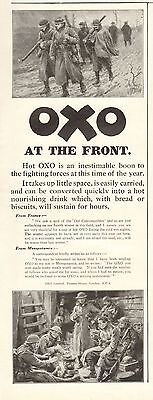 1917 Antique Print- Advert-Oxo-At The Front
