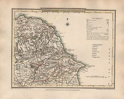 1816 COUNTY MAP G COLE & J ROPER : YORKSHIRE NORTH RIDING &c