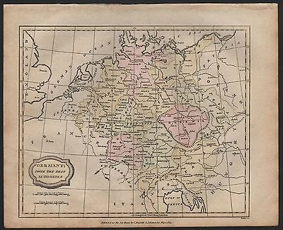 1807 Antique H/Col Map - Germany From The Best Authorities