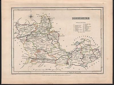 1848 Antique County Map - Berkshire Hungerford Windsor Wallingford