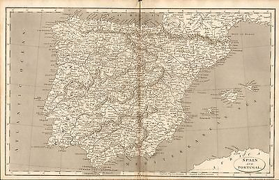 1807 Antique Map-Arrowsmith- Spain And Portugal