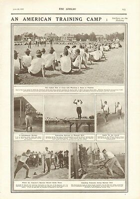 1918  Antique Print- Ww1- An American Training Camp, Soldiers In The Making