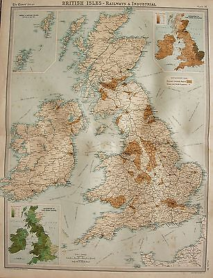 1920  Large  Map : British Isles, Railway & Industrial