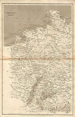 1807 Antique Map- Arrowsmith- Germany West