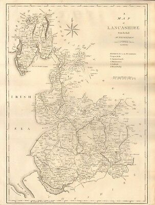 1805 Antique Map - Cary/Stockdale- A Map Of Lancashire From The Best Authorities