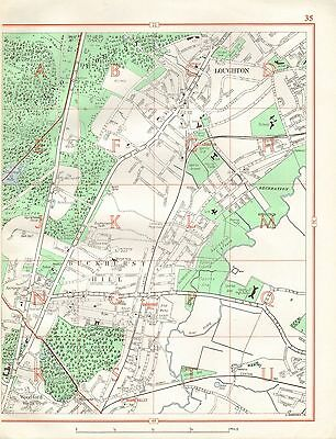 1964  Vintage Street Map - Loughton, Buckhurst Hill, Epping Forest