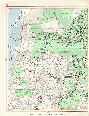1964  Vintage Street Map - Chingford, Epping Forest