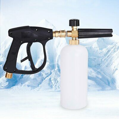 "1/4"" Car Wash Pressure Snow Foam Washers Jet Adjustable Lance Soap Spray Cannon"