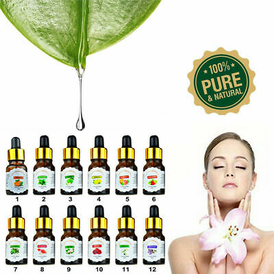 New 10ml Drop Design Essential Oil Pure & Natural Aromatherapy For Diffuser xz