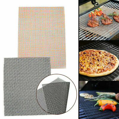3PCS BBQ Grill Mesh Mat Reusable Sheet Resistant Non-Stick Barbecue Bake