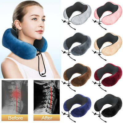 Memory Foam Rebound U-Shaped Travel Pillow Neck Support Head Rest Car Cushion