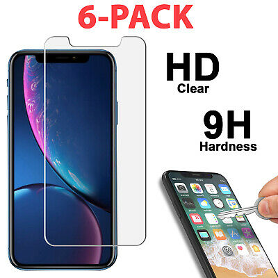 Tempered Glass Screen Protector Film Cover for iPhone XR X XS Max SE 6 /7 8 Plus