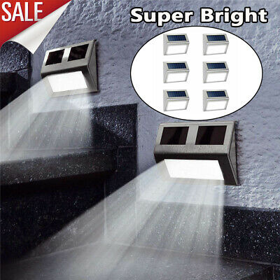 9X Super Bright Solar Powered Door Fence Wall Lights Led Outdoor Garden Lighting
