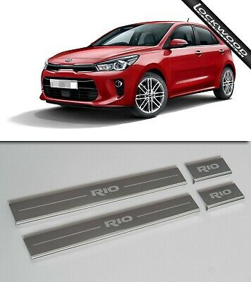 Kia Rio (Released 2017) Stainless Sill Protectors / Kick Plates
