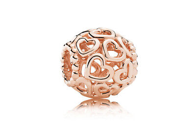 Genuine PANDORA Rose GOLD Openwork LOVE Charm - Start your Pandora Journey Now!