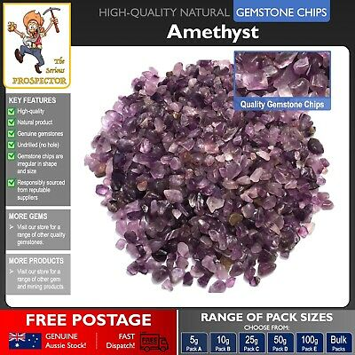 Amethyst Gemstone Chips | Natural Tumbled Gem Stone | Craft | Jewelry | Crystal