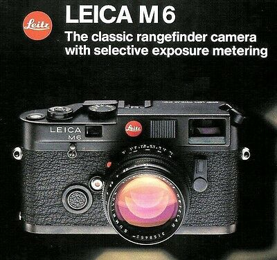 1984 LEICA M6 RANGEFINDER CAMERA FACTORY BROCHURE -from 1984