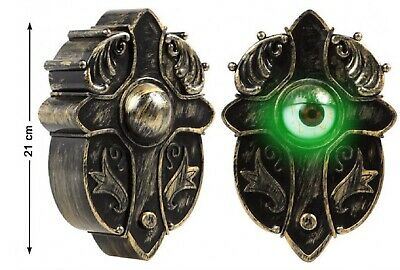 Spooky Moving Eye Doorbell Sounds Lights Scary Halloween Party Decoration Prop