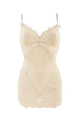 L'Agent By Agent Provocateur Sheer Lacy Slip Graphic White Size S