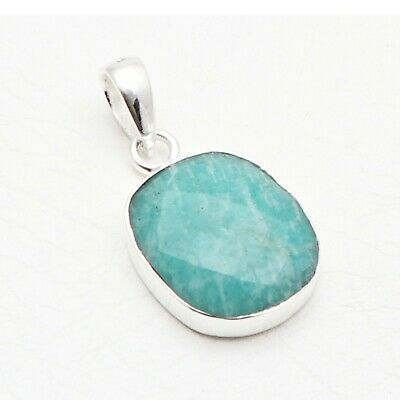 Amazonite Silver Plated Gemstone Pendant Finding Gift For Women Gemstone Jewelry