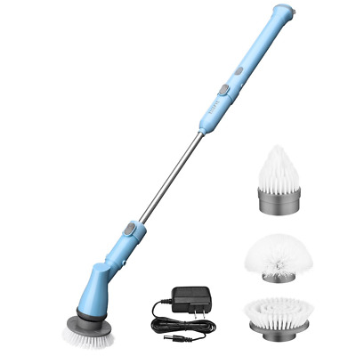 ELLESYE Electric Spin Scrubber, Power Cordless Scrubber Rechargeable Tile and 3