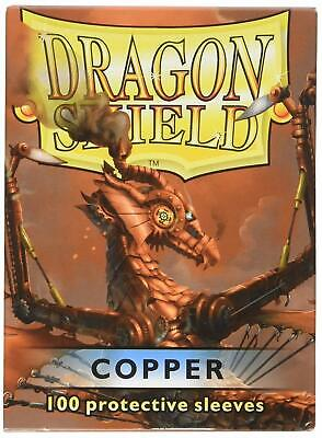 Dragon Shield Sleeves 100 Copper Cards Clear Front and Copper back