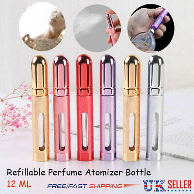 12ml Travel Portable Mini Refillable Perfume Atomizer Bottle Scent Pump Spray