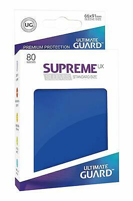 Ultimate Guard Supreme UX Sleeves, Standard Size, Blue, 80 Counts