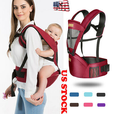 US Ergonomic Baby Carrier Backpack with Hip Seat Front Back for Women and Men