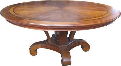Solid Mahogany Dining Table with Inlaid Top Seats 4-6 Antique Reproduction T001