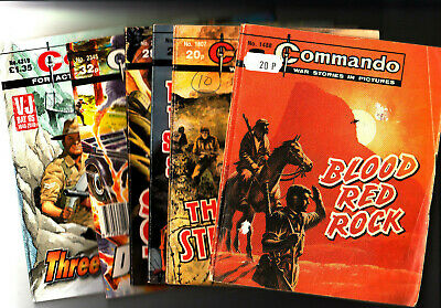 LOT of 6 COMMANDO Comics War Stories in Pictures 1488-4318 Action Plus FREE POST