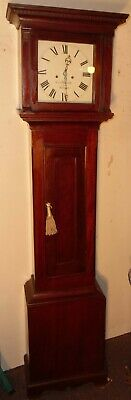 Antique Slim Mahogany  Case  8 Day Longcase / Grandfather  Clock
