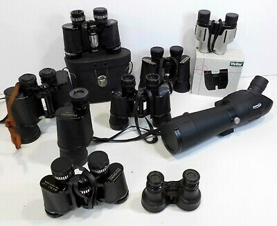 Job Lot of Binoculars Spotting Scope - Field, Compact, Opera Bins - Some Vintage