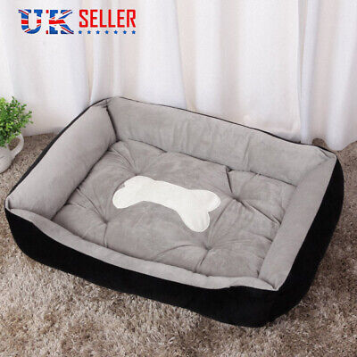 Large Dog Beds Washable Puppy Cushion Blanket Soft Winter Warm Pet Cat Nest UK