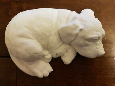 Laying Dog Animal Rubber Latex Mould Mold Ornament Statue Figurine New Unused