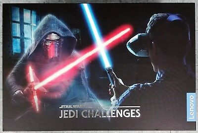 Star Wars Jedi Challenges Lenovo AR Headset WithSaber and Beacon Good Shape