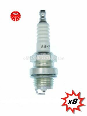 AB-2 NGK Spark Plug Single Piece Pack for Stock Number 3020 or Copper Core Part No