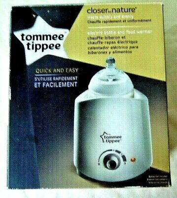 Tommee Tippee 42214420 Closer to Nature Electric Baby Bottle Food Warmer New