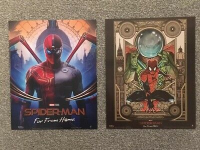 SPIDERMAN Far From Home 2 X Poster - Official Odeon Movie Glossy A4