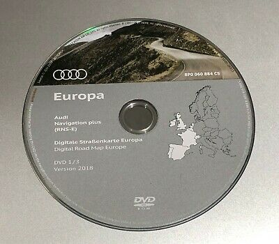 2018-2019 Audi Seat Rns-E Sat Nav Map Update Disc Western Europe Dvd