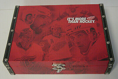 Detroit Red Wings Season Ticket Gift Box It's More Than Hockey NHL Wood Leather