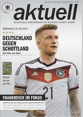 Germany v Scotland 7 Sep 2014 European Championship Qualifier Press Pack